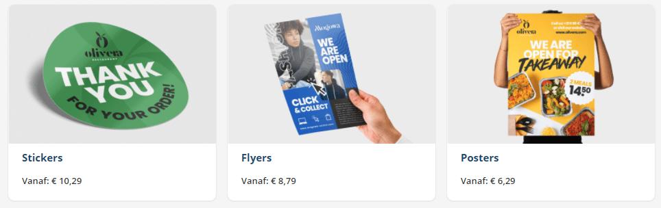 stickers posters en flyers
